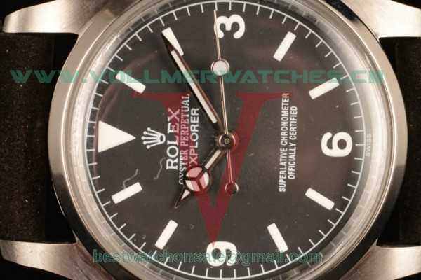 Rolex Explorer 2813 Auto Black Dial with Steel Case 14250 bkw
