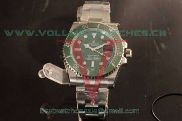 1:1 Rolex Submariner 2836 Auto Green Dial with 904Steel Case 116610LV