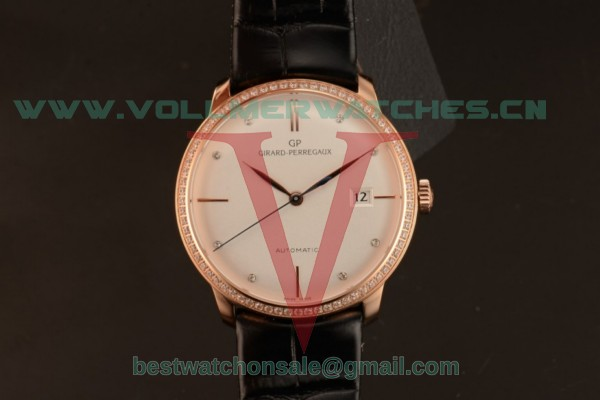 Girard Perregaux 1966 9015 Auto White Dial with Rose Gold Case 49528D52A131-CB6A