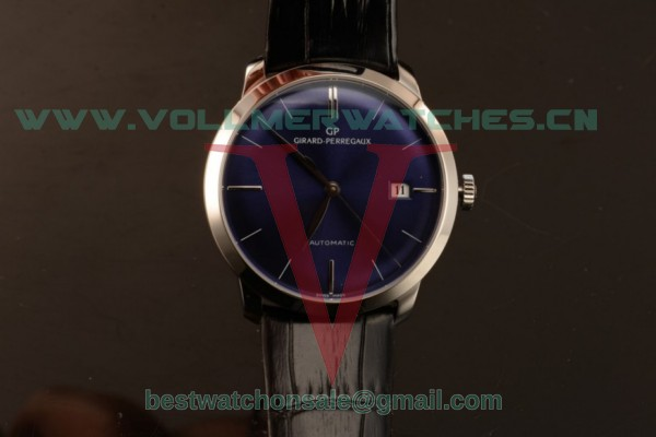 Girard Perregaux 1966 Cadran Bleu 9015 Auto Blue Dial with Steel Case 49527-53-432-BB4A