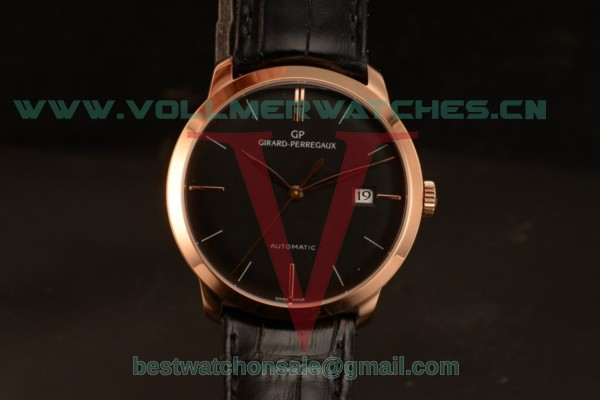 Girard Perregaux 1966 9015 Auto Black Dial with Rose Gold Case 49525-52-232-BKCA