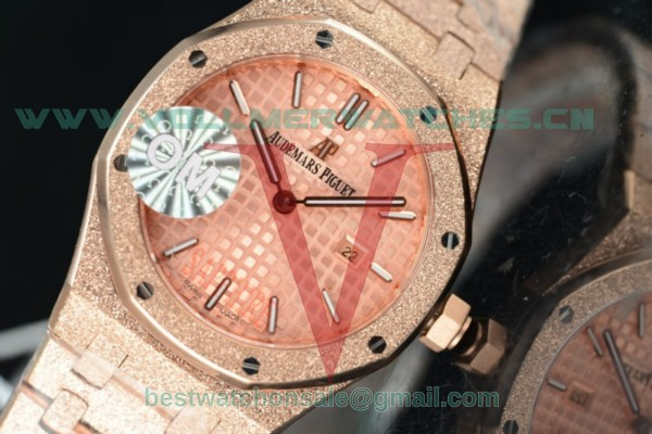 Audemars Piguet Royal Oak Quartz Pink Dial with Rose Gold Case 67653OR.GG.1263OR.02 (EF)