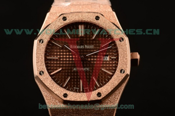 Audemars Piguet Royal Oak 3120 Auto Brown Dial with Rose Gold Case 15400OR.OO.1220OR.02BRO (EF)