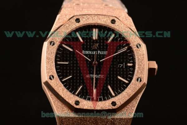 Audemars Piguet Royal Oak 41MM 3120 Auto Black Dial with Rose Gold Case 15400OR.OO.1220OR.01D (EF)