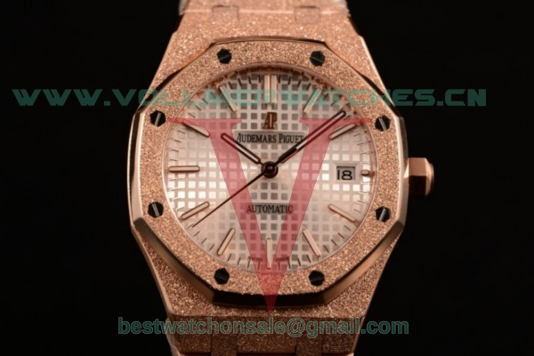 Audemars Piguet Royal Oak 41MM 3120 Auto White Dail with Rose Gold Case 15400OR.OO.1220OR.02D (EF)