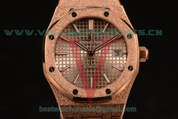 Audemars Piguet Royal Oak 41MM 3120 Auto Gray Dail with Rose Gold Case 15400OR.OO.1220OR.02D (EF)