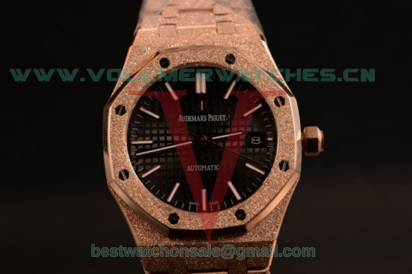 Audemars Piguet Royal Oak 41MM 3120 Auto Black Dail with Rose Gold Case 15400OR.OO.1220OR.01D (EF)