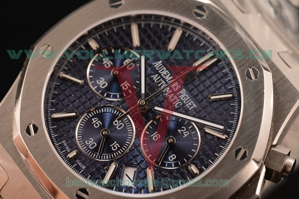 Audemars Piguet Royal Oak Chronograph Miyota OS20 Quartz Blue Dial with Steel Case 26320ST.OO.1220ST.022
