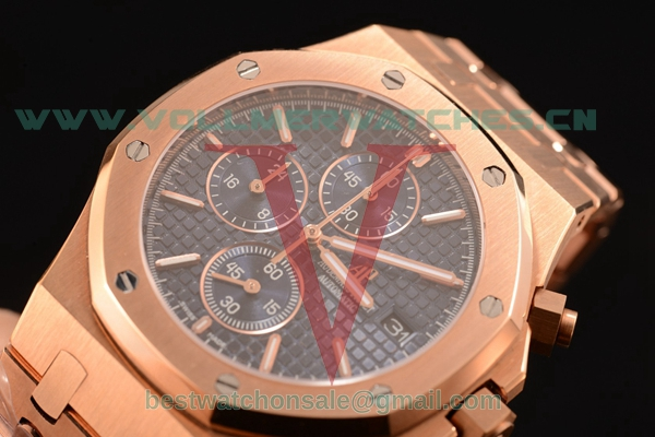 Audemars Piguet Royal Oak Chronograph Miyota OS10 Quartz Blue Dial with Rose Gold Case 26320OR.OO.1220OR.04L