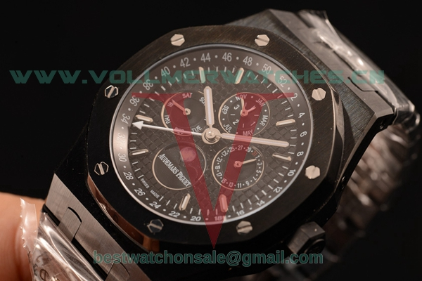 Audemars Piguet Royal Oak Perpetual Calendar Asia Auto Black Dial with PVD Case 26320OR.OO.1220OR.04L