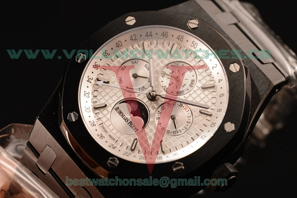 Audemars Piguet Royal Oak Perpetual Calendar Asia Auto White Dial with PVD Case 26579CE.OO.1225CE.02