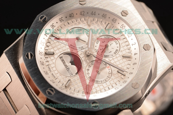 Audemars Piguet Royal Oak Perpetual Calendar Asia Auto White Dial with Steel Case 26574ST.OO.1220ST.01