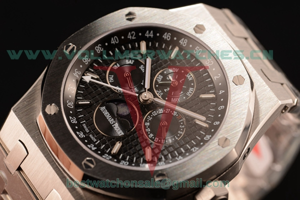 Audemars Piguet Royal Oak Perpetual Calendar Asia Auto Black Dial with Steel Case 26574ST.OO.1220ST.03