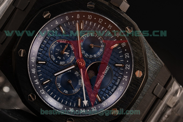 Audemars Piguet Royal Oak Perpetual Calendar Asia Auto Blue Dial with PVD Case 26579CE.OO.1225CE.02BL