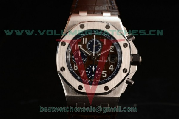 Audemars Piguet Royal Oak Offshore Clone AP Calibre 3126 Auto Brown Dial with Steel Case 26470ST.OO.A820CR (JF)