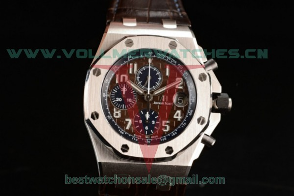 Audemars Piguet Royal Oak Offshore Clone AP Calibre 3126 Auto Brown Dial with Steel Case 26470ST.OO.A099CR.01 (JF)
