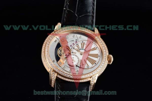 Audemars Piguet Millenary Miyota 9015 Auto White Dial with Rose Gold Case 26354OR