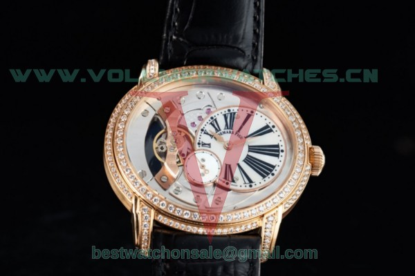 Audemars Piguet Millenary Miyota 9015 Auto White Dial with Rose Gold Case 26354OG