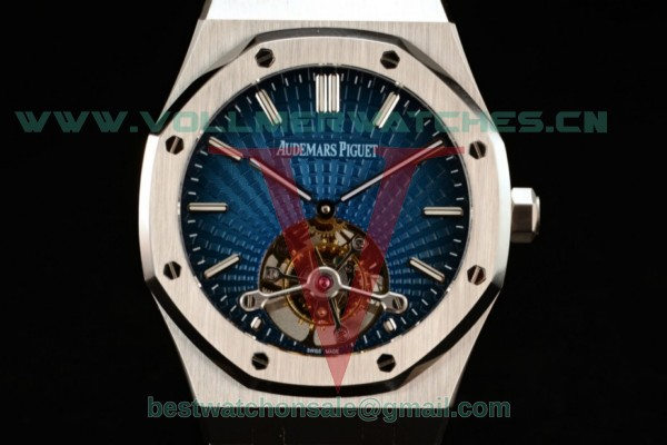 Audemars Piguet Royal Oak Tourbillon Swiss Tourbillon Manual Winding Blue Dial With Steel Case 26510ST.OO.1220ST.01