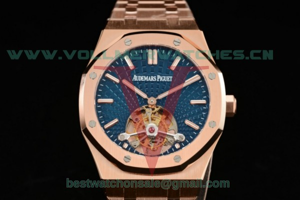Audemars Piguet Royal Oak Tourbillon Swiss Tourbillon Manual Winding Blue Dial With Rose Gold Case 26510or.oo.1220or.01