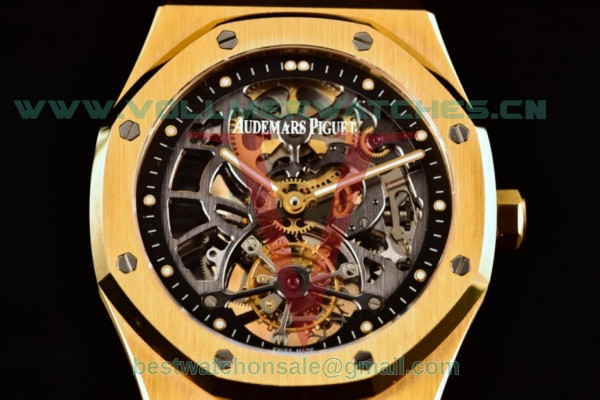 Audemars Piguet Royal Oak Skeleton Tourbillon Swiss Tourbillon Manual Winding Skeleton Dial With Yellow Gold Case 26513BA.OO.1220BA.01