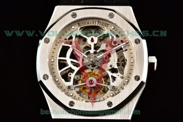Audemars Piguet Royal Oak Skeleton Tourbillon Swiss Tourbillon Manual Winding Skeleton Dial With Steel Case 26518ST.OO.1220ST.01