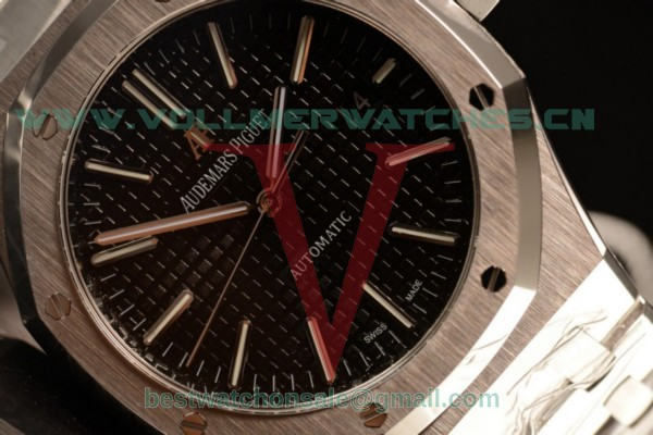 Audemars Piguet Royal Oak 41 MM Clone AP Calibre 3120 Auto Black Dial With Steel Case 15400ST.OO.1220ST.01(JH)