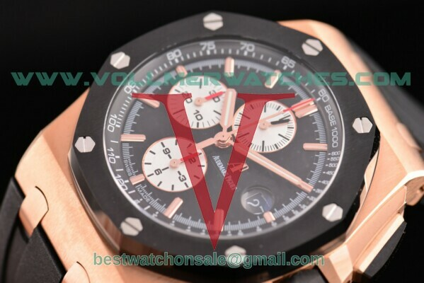 Audemars Piguet Royal Oak Offshore Chrono 7750 Auto Black Dial with Rose Gold Case 26400RO.OO.A002CA.01(NOOB)