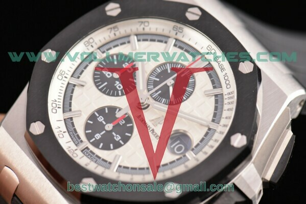 Audemars Piguet Royal Oak Offshore Chrono 7750 Auto White Dial with Steel Case 26400SO.OO.A002CA.01(NOOB)