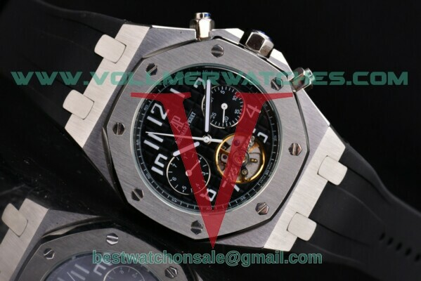 Audemars Piguet Royal Oak Offshore Tourbillon Auto Black Dial with Steel Case 25977ST.OO.D002CR.01