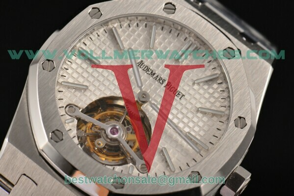 Audemars Piguet Royal Oak Tourbillon Swiss Tourbillon Manual Winding White Dial with Steel Case 26510ST.OO.1220ST.02