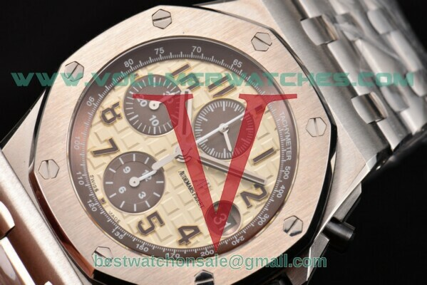 Audemars Piguet Royal Oak Offshore Chrono 7750 Auto Beige Dial with Steel Case 26470st.oo.a801cr.01 (JF)