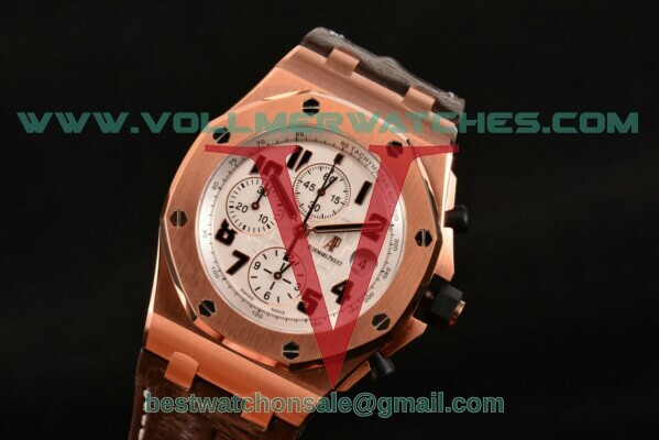 Audemars Piguet Royal Oak Offshore Chrono 7750 Auto White Dial with Rose Gold Case 26170OR.OO.1000OR.01L (JF)