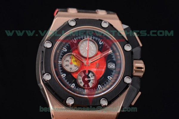Audemars Piguet Royal Oak Offshore Grand Prix Chrono Miyota OS10 Quartz Black/Red Dial with Rose Gold Case 26290RO.OO.A001VE.02 (EF)