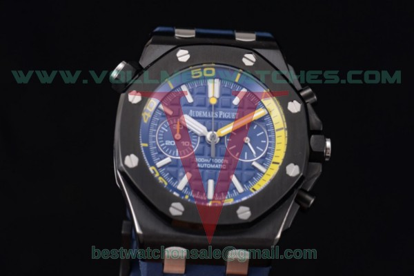 Audemars Piguet Royal Oak Offshore Diver Chrono Miyota OS20 Quartz Blue Dial with PVD Case 26703ST.OO.A027CA.01 (EF)