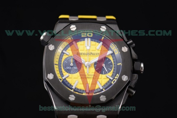 Audemars Piguet Royal Oak Offshore Diver Chrono Miyota OS20 Quartz Yellow Dial with PVD Case 26703ST.OO.A051CA.01 (EF)