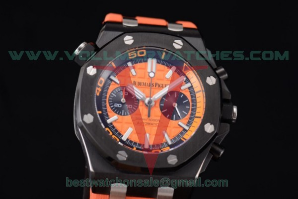 Audemars Piguet Royal Oak Offshore Diver Chrono Miyota OS20 Quartz Orange Dial with PVD Case 26703ST.OO.A070CA.01 (EF)