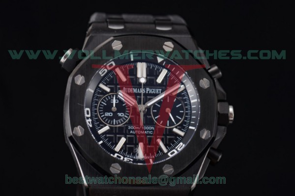 Audemars Piguet Royal Oak Offshore Diver Chrono Miyota OS20 Quartz Black Dial with PVD Case 26703ST.OO.A077CA.01 (EF)