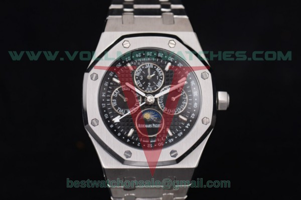 Audemars Piguet Royal Oak Perpetual Calendar ST17 Auto Black Dial with Steel Case 25820SP.OO.0944SP.02 (EF)
