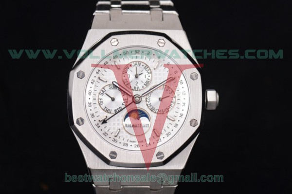 Audemars Piguet Royal Oak Perpetual Calendar ST17 Auto White Dial with Steel Case 26574ST.OO.1220ST.01 (EF)