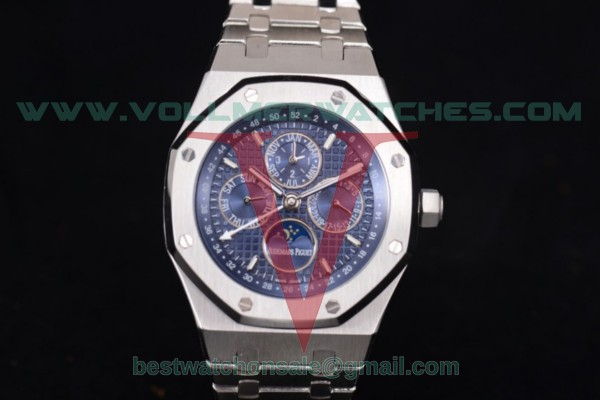 Audemars Piguet Royal Oak Perpetual Calendar ST17 Auto Blue Dial with Steel Case 26574ST.OO.1220ST.02 (EF)