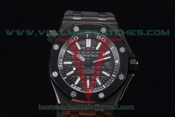 Audemars Piguet Royal Oak Offshore Diver Auto Black Dial with PVD Case 15703ST.OO.A002CA.01.pvd (EF)