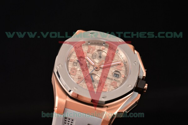 Audemars Piguet Royal Oak Offshore Chrono 7750 Auto Grey Dial With Rose Gold Case 26210OI.OO.A109CR.01 (EF)