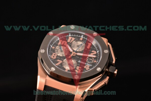 Audemars Piguet Royal Oak Offshore Chrono 7750 Auto Black Dial With Rose Gold Case 26210OI.OO.A108CR.01 (EF)