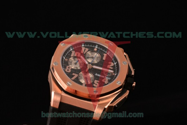 Audemars Piguet Royal Oak Offshore Chrono 7750 Auto Black Dial With Rose Gold Case 26210OI.OO.A107CR.01 (EF)