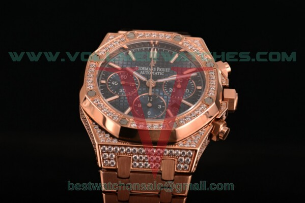 Audemars Piguet Royal Oak Chrono 7790 Auto Blue Dial with Rose Gold Case 26320OR.OO.1220OR.04D (EF)