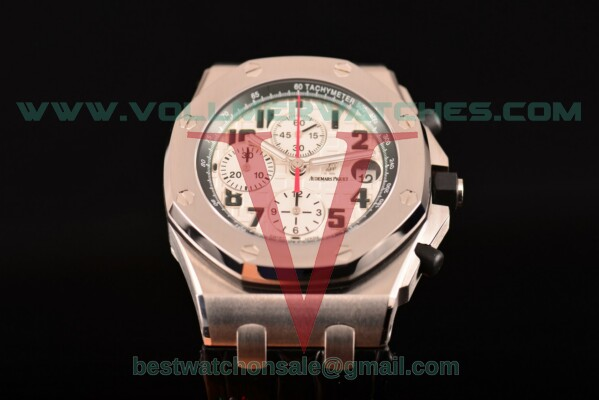 Audemars Piguet Royal Oak Offshore Chrono 7750 Auto White Dial with Steel Case 26297IS.OO.D101CR.01 (JF)