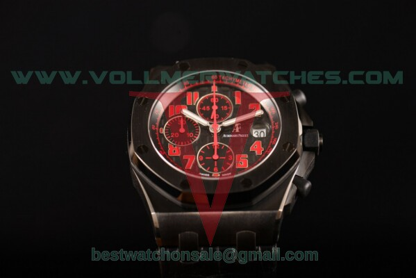 "Audemars Piguet Royal Oak Offshore ""Las Vegas Strip"" 7750 Auto Black Dial with DLC Case 26186SN.OO.D101CR.01 (JF)"