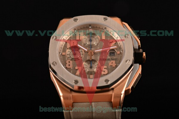 Audemars Piguet Royal Oak Offshore Clone AP Calibre 3126 Auto Grey Dial with Rose Gold Case 26210OI.OO.A109CR.13 (EF)