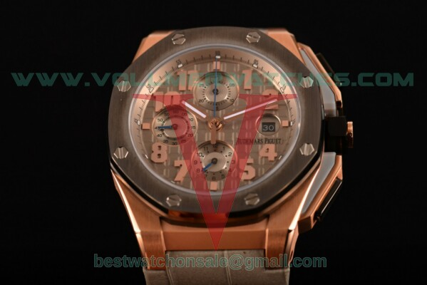 Audemars Piguet Royal Oak Offshore Clone AP Calibre 3126 Auto Grey Dial with Rose Gold Case 26210OI.OO.A109CR.14 (EF)